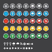 Vector web icono botón — Vector de stock
