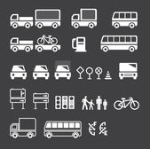 Transport icons set vektor — Stockvektor