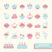 Cup cake soft color . Vector illustration — Stock Vector