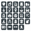 Halloween icons set vector - Stock Photo