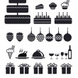 Set of icon for holiday vector — Stock Photo