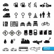 Traffic icons - Stock Photo