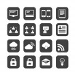 Internet icon vector set — Stock Photo