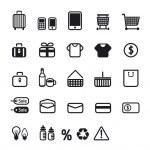 Shopping icons set. Vector design. — Stock Photo
