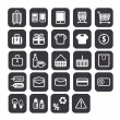 Shopping icons set. Vector design. — 图库照片