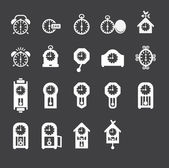 Clocks icon set vector — Stock Photo