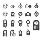 Clocks icon set vector — 图库照片
