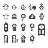 Klockor ikonuppsättning vektor — Stockfoto