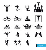Icons sports vector — Stok fotoğraf