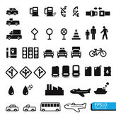 Traffic icons — Stock Photo