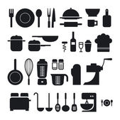 Kitchen tool icons collection can be used for infographics — Stock Photo