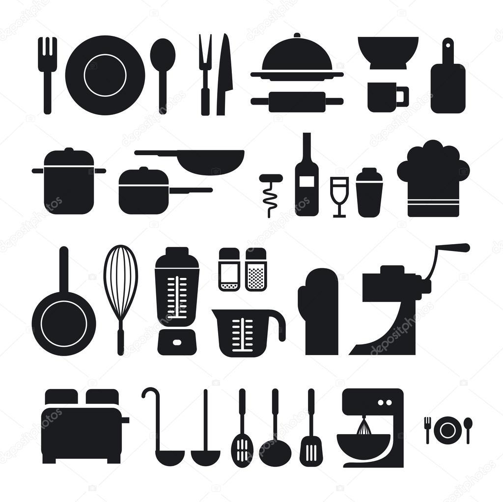 Colecci n de iconos de herramientas de cocina puede ser for Herramientas para cocina