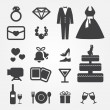 Wedding icons - Stock Vector