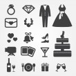 Wedding icons - Stock vektor