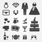 Wedding icons — Wektor stockowy