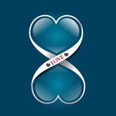 Design moderno amor linha conceito, gráfico ou web site layout do papel — Vetorial Stock