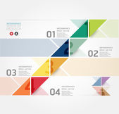 Modern Design Minimal style infographic template , can be used for infographics , numbered banners , horizontal cutout lines , graphic or website layout vector — Stock Vector