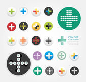 Icons plus design set , can be used for infographics , graphic — Stock Vector