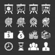 Business and financial Icons set. Vector illustration. — Stock Vector #28401439