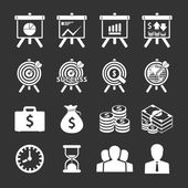 Business and financial Icons set. Vector illustration. — Stock Vector