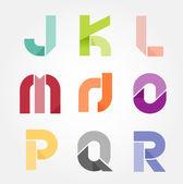 Alphabet modern paper cut abstract style Design. Vector illustra — Stock Vector