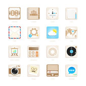 Apps icons set retro style. Vector illustration — Stock Vector
