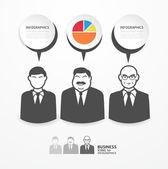 Ikony ludzi biznesu z okna dialogowego dymki — Wektor stockowy