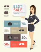 Prodej propagace papíru šablonu moderní styl — Stock vektor