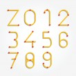 Alphabet dot modern paper cut abstract style Design. — Stock Vector