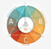 Geometric Modern Design Minimal style infographic template — Stock Vector