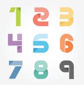 アルファベット現代ペーパー カット抽象的なスタイル デザイン. — ストックベクタ
