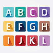 Alphabet colorful Font with Sahdow Style — Stock Vector