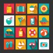 Summer Icons Set design — Stock Vector