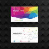 Geometric creative business card template. — Stock Vector