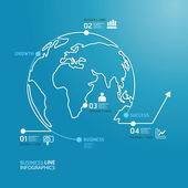World business diagram — Stock Vector