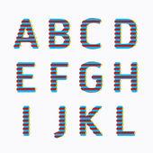 Alphabet modern paper line — Stock Vector