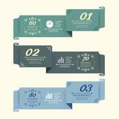 Vintage design etiketleri Infographic şablonu. — Stok Vektör