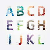 Alphabet color style Design. — Stock Vector