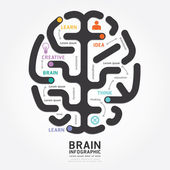 Infographics brain design — Stock Vector