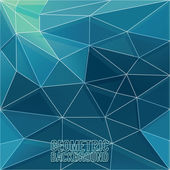 Abstracte meetkundige driehoek — Stockvector