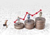 Business man miniature figure concept — Stock Photo