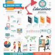 Infographic education template design — ストックベクタ #48446053