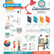 Infographic education template design — Stok Vektör #48446053