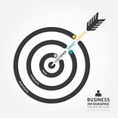 Infographics business arrow design — Stock Vector
