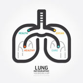 Infographics lung design — Stock Vector