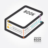 Infographics book design — Stock Vector