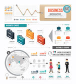 Infographic  Business world  template — Stock Vector