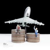 Business man miniature figure — Stock Photo