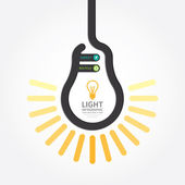 Infographic Template with Light bulbs line banner — 图库矢量图片