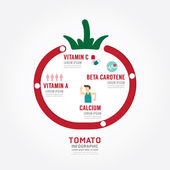 Infographic tomato health concept template design — Stock Vector